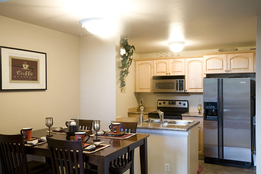 Kitchen in senior living housing | BCCG